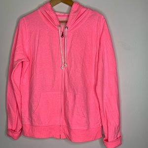 XL bright pink Xhileration zip up hoodie